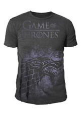 Game of Thrones - Herren Wappen T-Shirt - Stark Jumbo Logo (Grau) (S-XL)