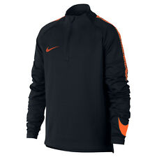 Nike Dri-Fit Squad Drill - Herren Zip Top - 859197-015 schwarz/orange