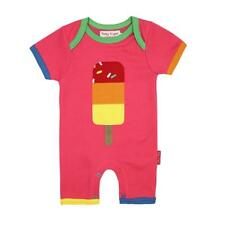 Toby Tiger Lolly Applique Short Romper Organic Cotton Playsuit