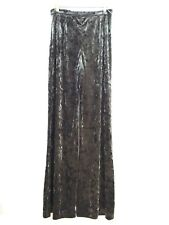 ZARA FLOWING VELVET FLARED TROUSERS PALAZZO SIZE S M L REF 2731 278