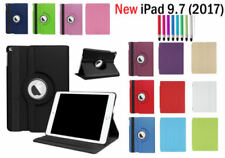 For New iPad 2017 360 Rotating Case & Smart Case Cover for Apple iPad 5 2017 9.7
