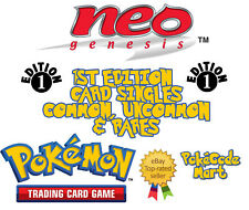 Pokemon TCG Neo Genesis 1st Edition Card Selection: Uncommon, Common, Rares