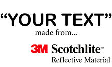 3m Scotchlite Reflectante Letras Tallas & Colores GATES advertencia (Negro)
