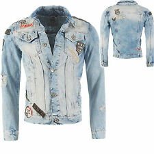 Redbridge Herren Jeansjacke Demin Jacke destroyed Patches jacket M6043
