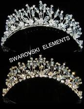 SALE Bridesmaid Prom made with Swarovski Crystal Silver / Gold  Hair Comb TC1034