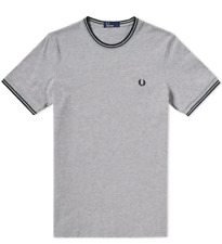Fred Perry - Twin Tipped - T-Shirt - Steel Marl - Tee - Crew - M1588 - 234