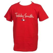 Tee shirt manches courtes Teddy smith Teven blood mc tee jr Rouge 56408 - Neuf