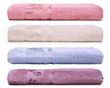 HYGGE Deluxe Bamboo Bath Towel with Floral Jacquard ***NEW***