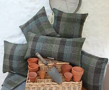 HARRIS TWEED Crofters Patchwork Cushion Cover with contrast GREY back option