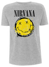 NIRVANA' SMILEY SPLAT 'T-SHIRT - NUOVO E ORIGINALE