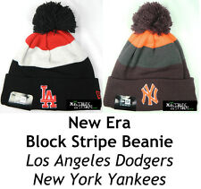 NEW ERA BLOCK STRIPE MLB BEANIE - LOS ANGELES DODGERS LA/NEW YORK YANKEES NY