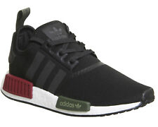 Adidas Nmd R1 Trainers BLACK BURGUNDY OLIVE EXCLUSIVE Trainers Shoes