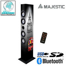 SISTEMA AUDIO MULTIMEDIALE BLUETOOTH A TORRE 60W BASS REFLEX UK LONDON