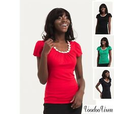 Voodoo Vixen Blouse Casual New Collection  Party Shirts Debbie Daisy Top