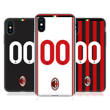 PERSONALIZZATA AC MILAN 2017/18 KIT CASE IN GEL PER APPLE iPHONE TELEFONI