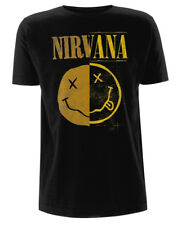 NIRVANA 'giuntato Smiley' T-SHIRT - NUOVO E ORIGINALE