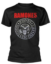 RAMONES' Red Logo Presidential Seal 'T-SHIRT - NUOVO E ORIGINALE