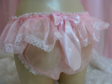 sissy sheer organza frilly lace panties mens lingerie knickers all sizes colours