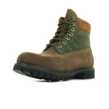 Chaussures Boots Timberland homme 6in Premium Boot taille Marron Nubuck Lacets
