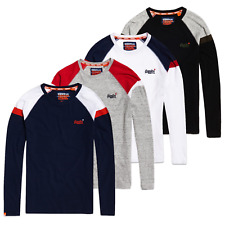Superdry T-Shirts - Superdry Vintage Embroidery & Baseball Long Sleeve Tee