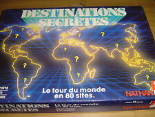 DESTINATIONS SECRÈTES Le tour du Monde en 80 sites ! Jeu éducatif Nathan 1990