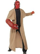 Adult Deluxe Licensed Hellboy Mens Halloween Horror Fancy Dress Costume Outfit