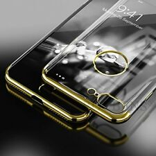 3 In1 Transparent Back Soft Silicon Clear Shining Cover  For Apple iPhone 8plus