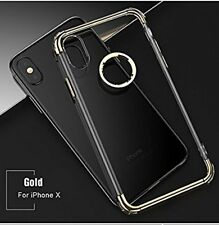 3 In1 Transparent Back Soft Silicon Clear Shining Cover  For Apple iPhone X