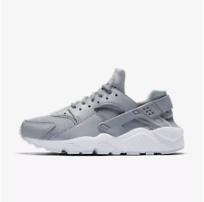 New Nike Women's Air Huarache Running Shoes (634835-032) Wolf Grey/White/Pure Pl