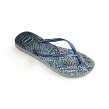 Havaianas Slim Animals Damen Zehentrenner Gummi Grey-Navy Blue Blau