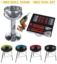 BBQ Stand Grill Barbecue Outdoor Garden Tools Set Charcoal Patio Portable Fan
