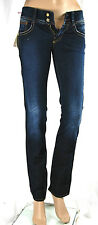Jeans Donna Pantaloni MET Made in Italy Regular Fit Woman Trousers C481 Tg 25