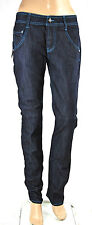 Jeans Donna Pantaloni MET Made in Italy Regular Fit Woman Trousers C493 Tg 27