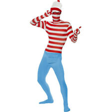 Adults Wheres Wally Second Skin Stag Night Mens Fancy Dress Costume 24243