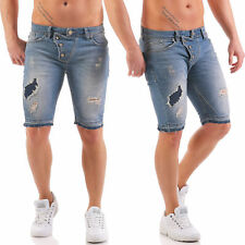 Redbridge Herren Jeans Shorts kurze Hose destroyed destroyed Blau M4822