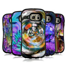 OFFICIAL HAROULITA ABSTRACT GLITCH HYBRID CASE FOR SAMSUNG PHONES