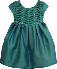Isobella & Chloe Baby Girls Party Dress Size 12M Teal with Sequins NWT