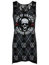 Sons of Anarchy Redwood Originals Women's Goth Bottom Lace Black Top