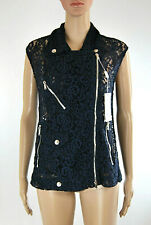 Gilet Giacca Top Smanicato in Pizzo Donna PHILOSOPHY D693 Tg 40 (rrp 595€)