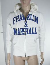 Felpa Uomo Cappuccio FRANKLIN & MARSHALL Hoodie Made in Italy H092 Tg S