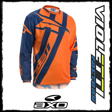 MOTION 4 JERSEY BLUE / ORANGE AXO maglia maglietta enduro cross arancio