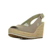 Sandales Nu Pieds Timberland femme Nice Coast taille Gris Grise Cuir A boucles