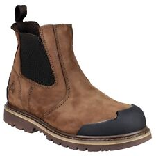 AMBLERS Safety Uomo Nubuck Con GUARDOLO Dealer Boot BUMP TAPPO DITO PIEDE