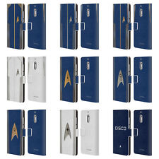 STAR TREK DISCOVERY UNIFORMS LEATHER BOOK WALLET CASE FOR MICROSOFT NOKIA PHONES