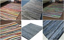 Small X Large Handmade Denim Multi-Colour Chindi Rug Area Rag Rugs Mat Recycled