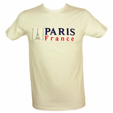 Souvenirs de France - T-Shirt Homme Brodé 'Paris France' - Blanc