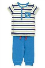 BABY BOYS 2 PIECE OUTFIT OF STRIPE TOP WITH PLAIN JOGGER BOTTOMS FROM M&S BNWT