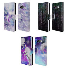 OFFICIAL HAROULITA ABSTRACT FANTASY LEATHER BOOK CASE FOR SAMSUNG PHONES 2