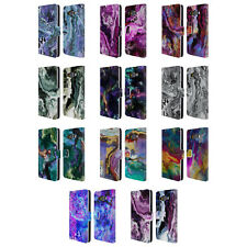 OFFICIAL HAROULITA MARBLE 2 LEATHER BOOK WALLET CASE COVER FOR SAMSUNG PHONES 2