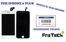TOUCH SCREEN + LCD DISPLAY RETINA+ FRAME APPLE IPHONE 6 PLUS SCHERMO BIANCO/NERO